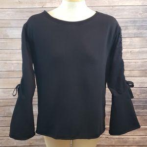 SANCTUARY Upper West Bell Sleeve Sweatshirt size M